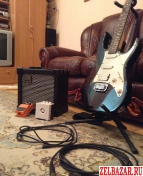 Ibanez GRX40,  Roland Cube,  boss Distortion DS-1