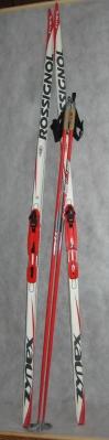 бег. лыжи rossignol(spane) 206см, крепл. rotterella(norway) , палки stc cyber 15