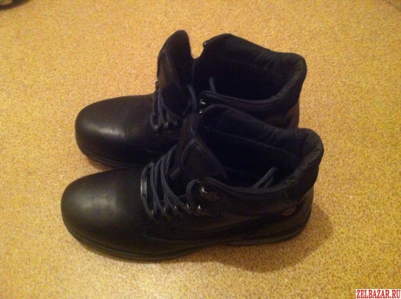Ботинки зимние мужские кожаные,  разм.  43-44.