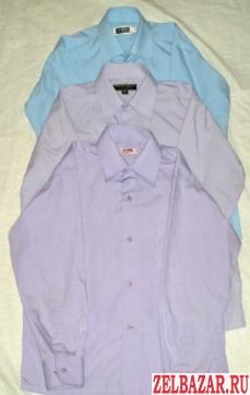 Для школы на рост 134 -140 см.  1. Рубашки классические.  Светло-голубая и две