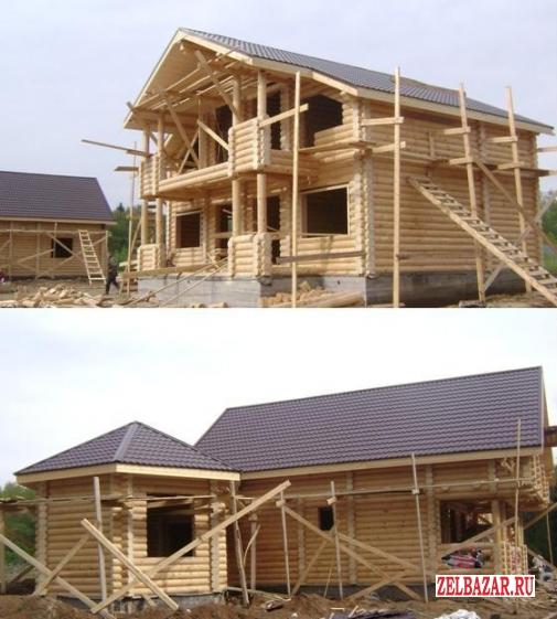 Дома,  бани из бревна и бруса проектируем,  строим