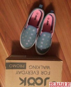 Джинсовые туфли (слипоны)  для девочек