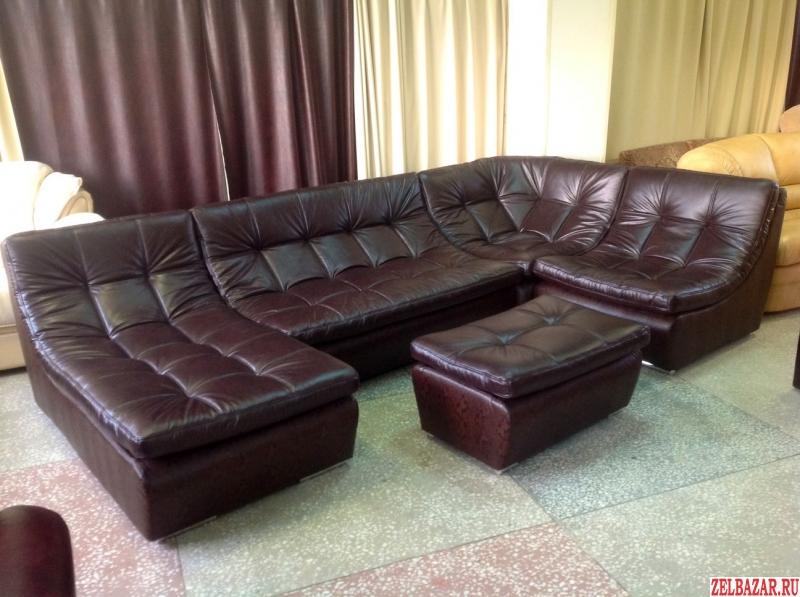 модульная мебель диван в элитной коже