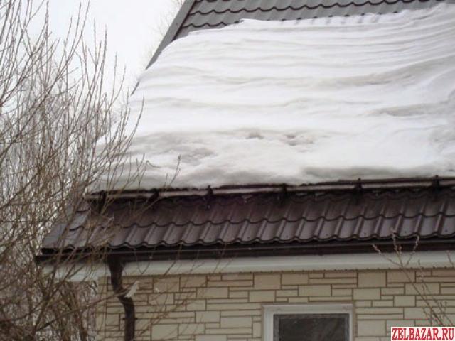 Монтаж водостоков и установка снегозадержателей
