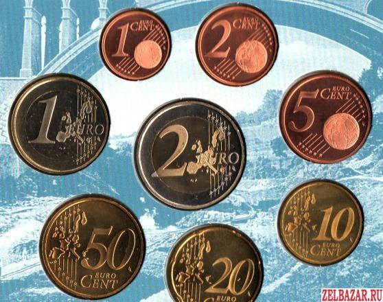 Набор Евро из 8 монет 2003 г UNC Книжка Люксембург