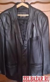 Пиджак,  кожаный