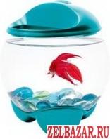 Продам аквариум бирюзовый круглый 1. 8л