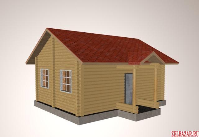 Продам дом 1-этажный дом 50 м² ( брус )  на участке 8 сот.  ,  10 км до города