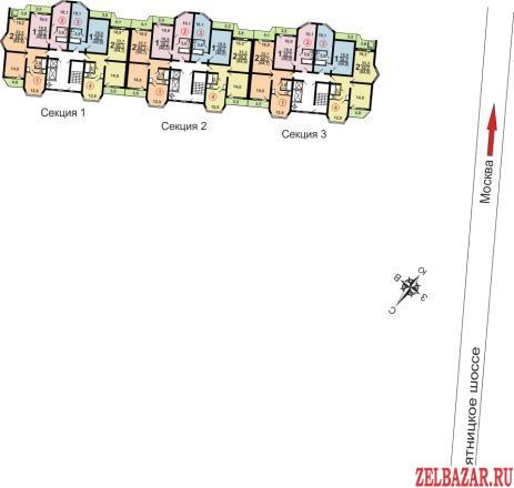 Продам квартиру в новостройке 2-к квартира 64 м² на 15 этаже 17-этажного панельн