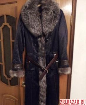 Продам зимнее пальто с чернобуркой