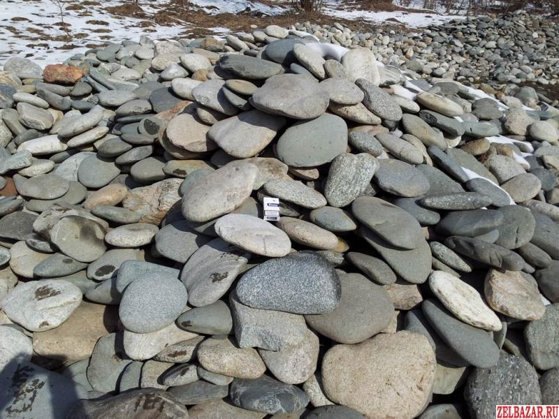 Речной песчаник, галька, валуны для ландшафта и отделки