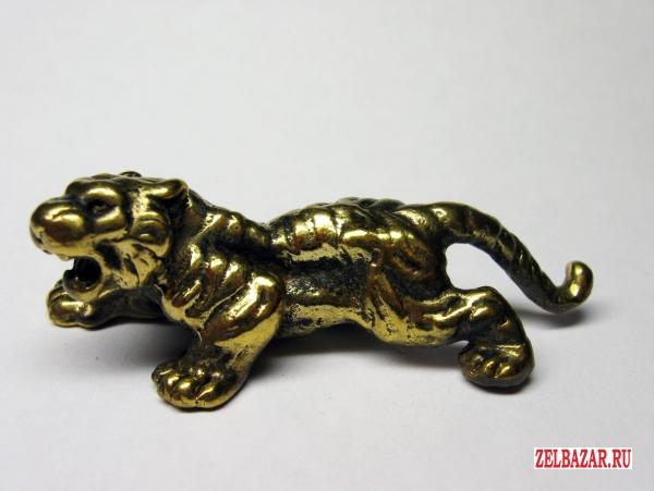 Тигр крадущийся - фигурка,  статуэтка из бронзы