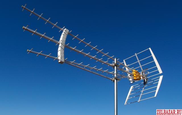 Установка ТВ антен